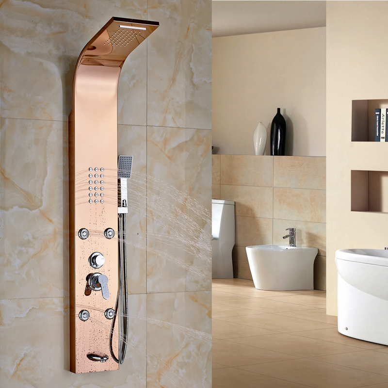 Wall Mounted Stainless Steel Shower Column Rainfall Shower Panel Massage  System Jets Hand Shower  Popular. Shower Panels Lowes