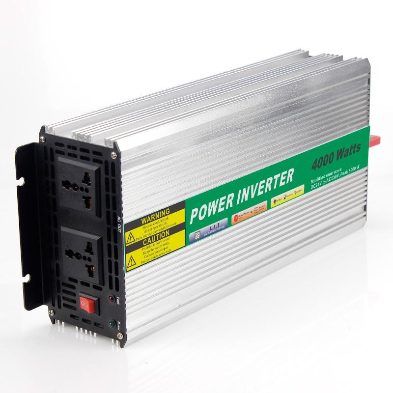 MAYLAR@ 48VDC 4000W Modified Sine Wave AC 110V or 220V Car Power Inverter Converter Power Solar inverters Off grid tie system maylar 22 60vdc 300w dc to ac solar grid tie power inverter output 90 260vac 50hz 60hz