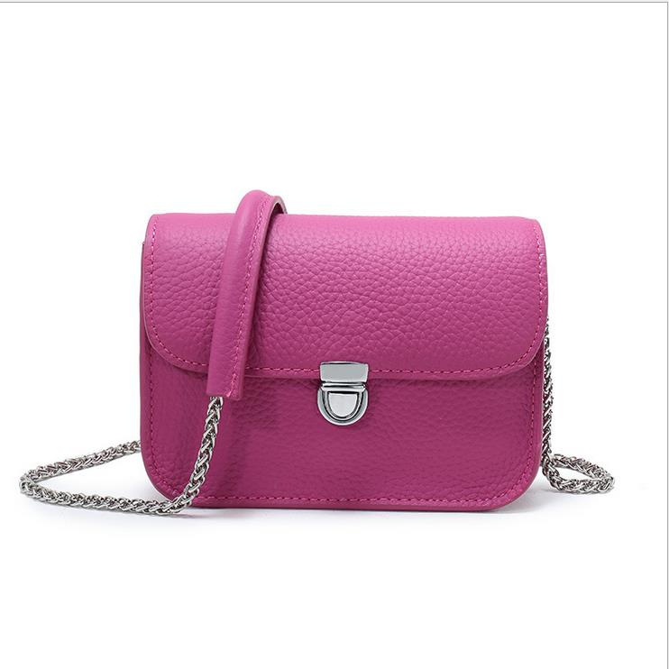 real leather brand messenger women flap bags handbags smallbag metal chain  cheap lady Messenger bag-in Crossbody Bags from Luggage   Bags on  Aliexpress.com ... 75f1ad5524ca4