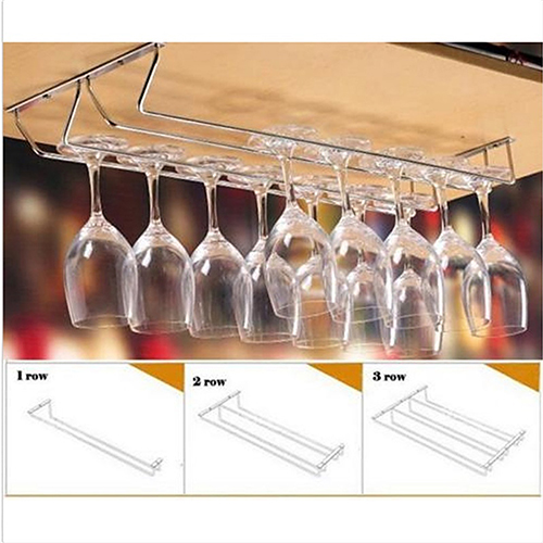 New Wine Whisky Glass Rack Cabinet Stand Home Dining Bar Tool Shelf Stainless Steel Holder Hanger Home Bar Products