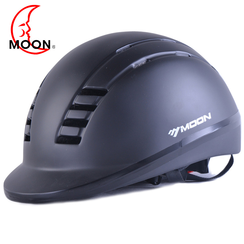 MOON Equestrian Helmet Horse Riding Helmet Black Outdoor Sports Equipment Male Cycling Helmet For Outdoor Horse Riding adjustable pro safety equestrian horse riding vest eva padded body protector s m l xl xxl for men kids women camping hiking