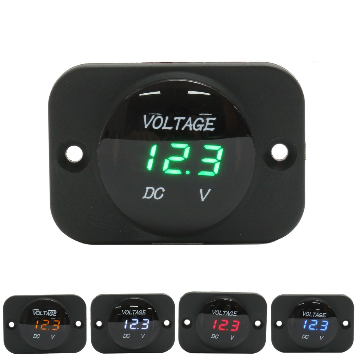 DC 12-24V Waterproof Car Boat Motorcycle LED Voltmeter Digital Display Volt Voltage Meter Gauge Durable Quality motopower grey 12v smart digital battery tester voltmeter alternator analyzer with lcd and led display for car motorcycle boat