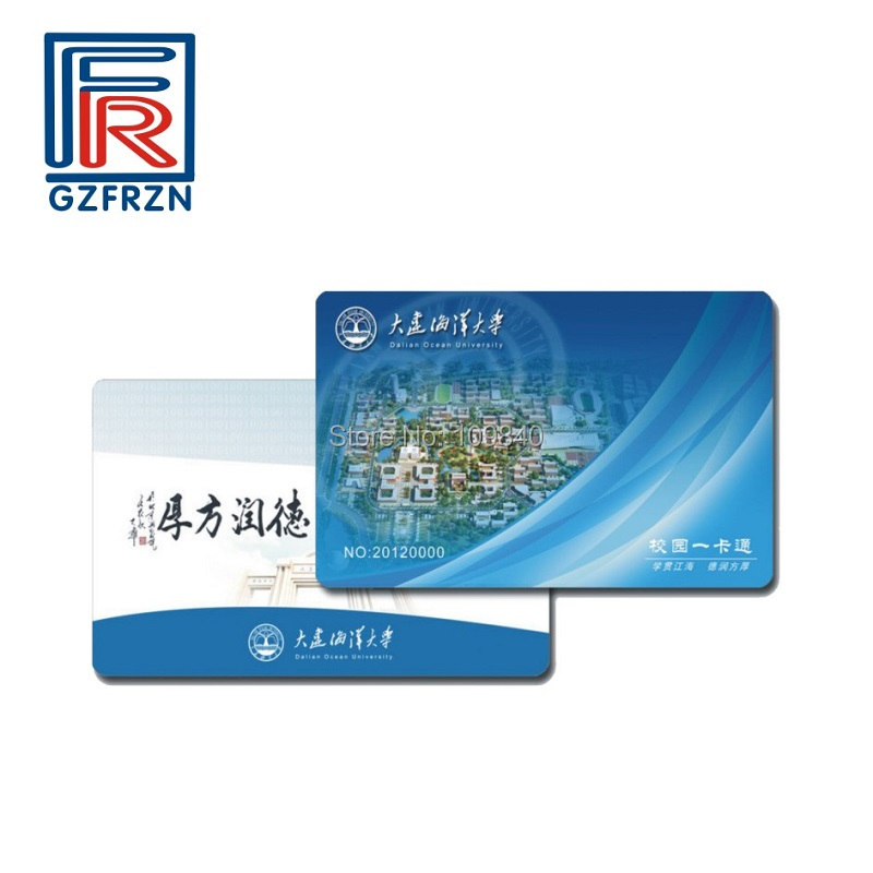 100pcs/lot ISO14443A 1K Memory PVC Rewritable 13.56MHz RFID Card CMYK printing for Hotel VIP iso 100 в перми