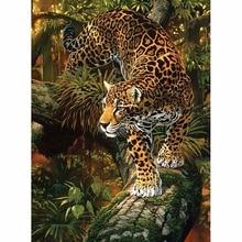 Новый 5D DIY Алмазная вышивка лес пятна леопарда diamond вышивка крестиком Круговой Алмазная мозаика для украшения BK567