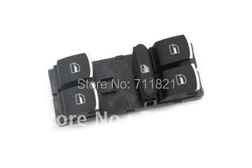 OEM Chrome Tip Power Window Master Switch Panel For VW Golf Jetta MK5 and MK6