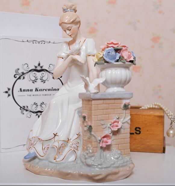 Personnages en céramique européens ornements cadeaux de mariage pour envoyer des ornements d'enfant artisanat cadeaux de fête des mères cadeaux de mariage 05112