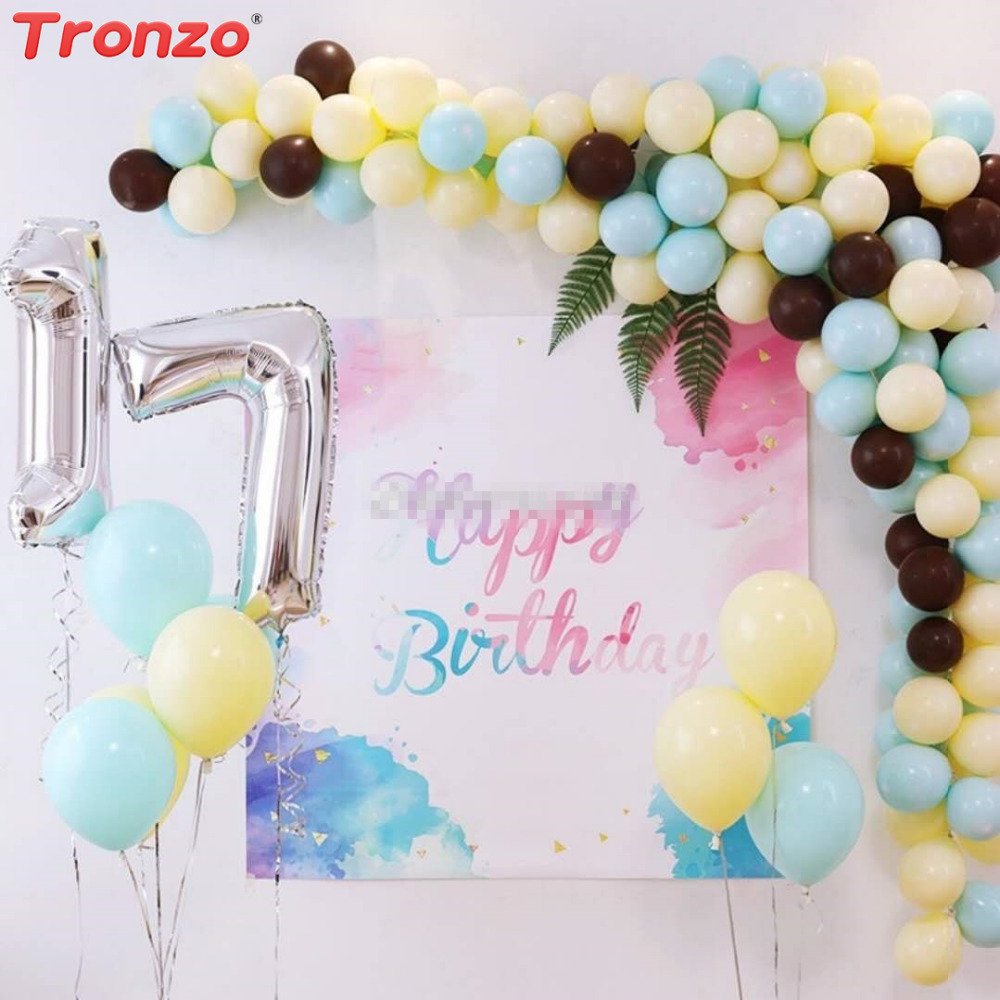 Tronzo Birthday Decoration Ballons 10inch Latex Macaron Color