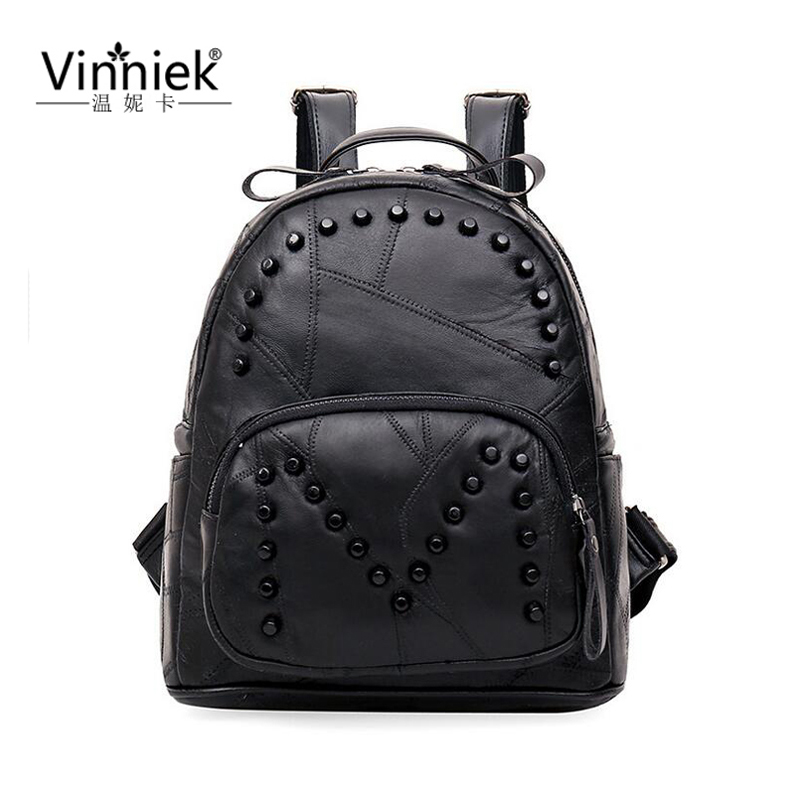 Genuine Leather Luxury Women font b Backpack b font Travel School Bags For Teenage Girls Small