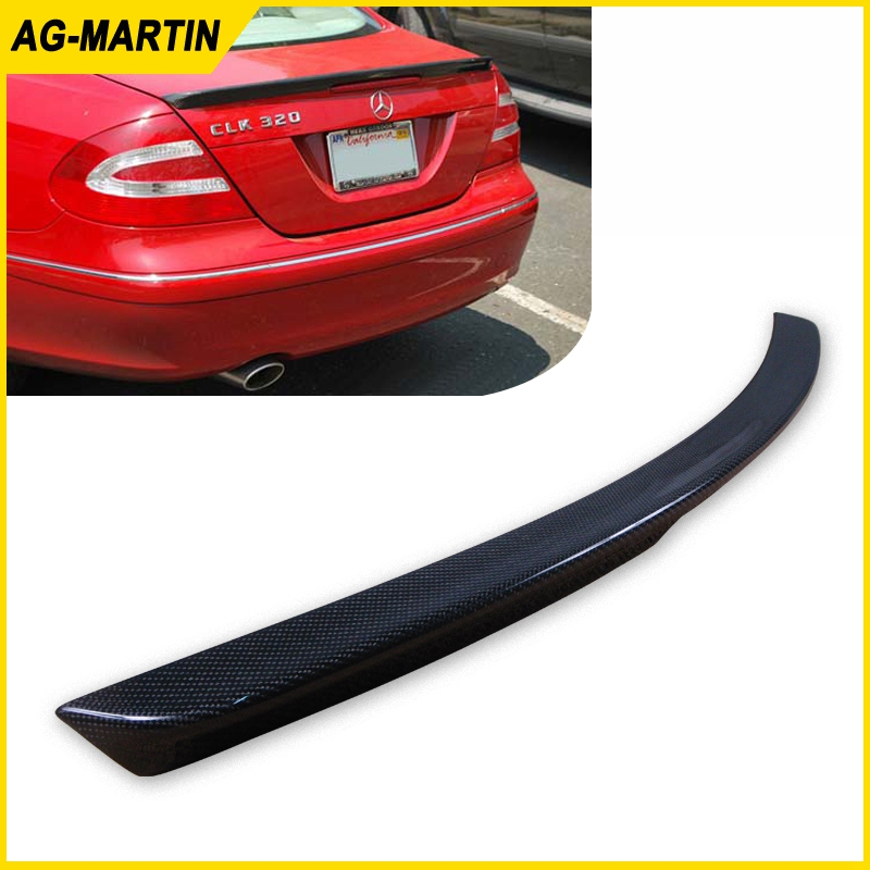 <font><b>W209</b></font> Rear <font><b>Spoiler</b></font> Carbon CLK350 Trunk <font><b>Spoiler</b></font> CLK280 Rear Wing Case For Mercedes Benz CLK Class 2004 2005 2006 2007 2008 image
