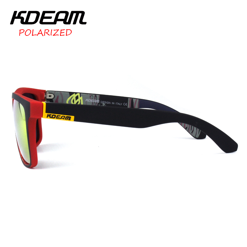 23f72ea403 KDEAM Polarized Sunglasses 2018 Hot Men Sport Sun Glasses Metal Hinges HD  Polaroid lens Square Frame With Hard case 13 Colors-in Sunglasses from  Apparel ...