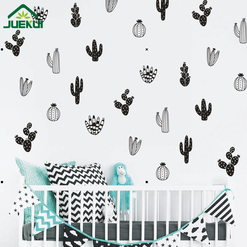 Cactus Wall Decals Woodland Tribal Vinyl Sticker Art Succulent and Cacti Decor