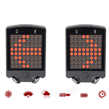 5 LED Bicycle Tail Rear Laser Rechargeable Wireless Remote Bike Turn Signal Safety Warning Light Waterproof