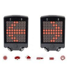 5 LED Bisiklet Kuyruk Arka Lazer Şarj Edilebilir Kablosuz Uzaktan Bisiklet Sinyal Güvenlik Uyarı Işık Geçirmez Bisiklet Kuyruk L...