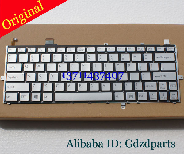 ФОТО Laptop Keyboard for Sony SVD13 SVD13228SCW Series US Sliver Without Frame 149245411US