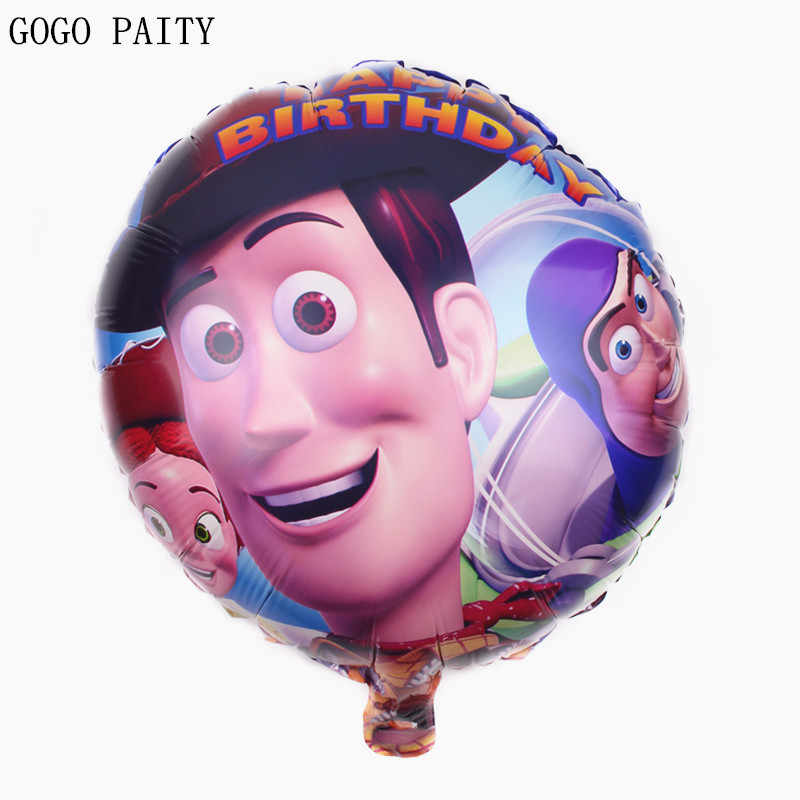 GOGO PAITY Wholesale foil balloon helium balloon  circle automatic sealing a bag of five hot toys for children