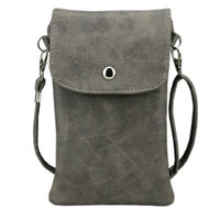 6 3 Inch Cell Phone Bag Matte Leather Pouch Purse Wallet Case Mini Crossbody Bag With