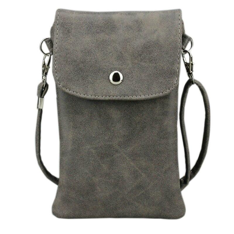Цена за 6.3 дюймов сотовый телефон сумка, матовая кожа Чехол кошелек чехол Mini Crossbody сумка с плечевым ремнем для IPhone Galaxy Note кольцо