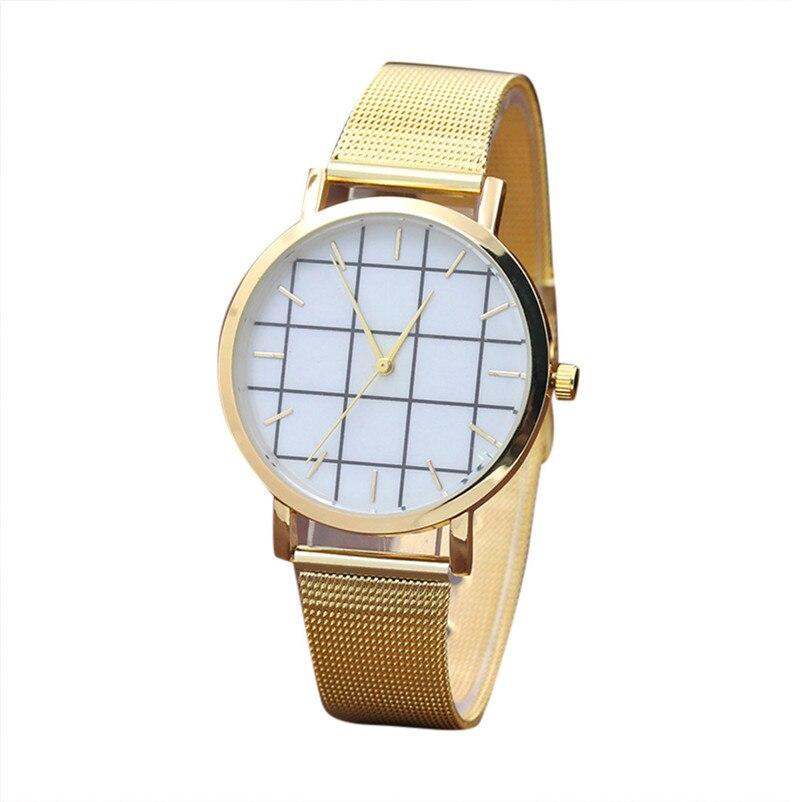 2017women watches Women Marble Surface Stainless Steel Band Quartz Movement Wrist Watch Dress female Reloj mujer
