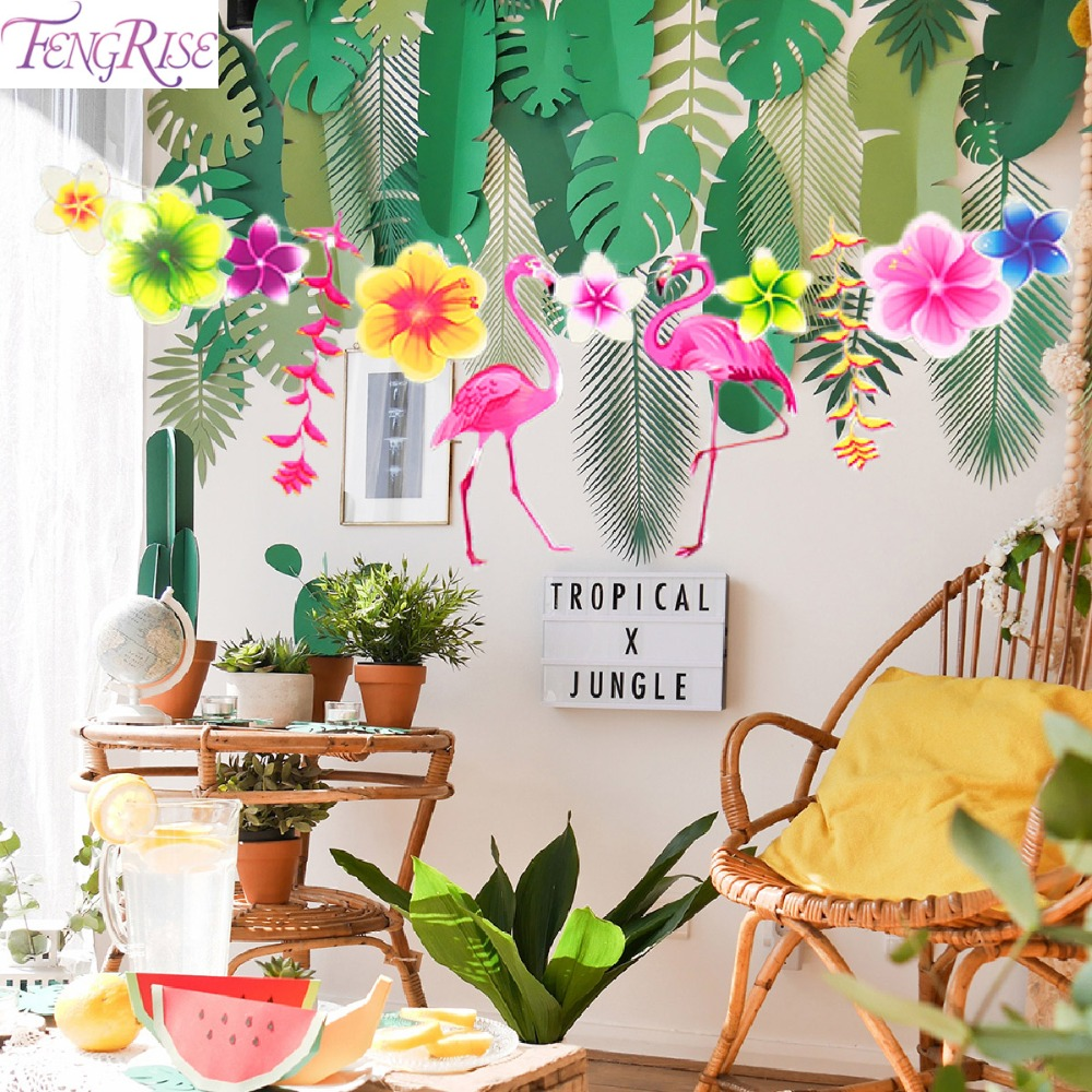 Beach Party Decorations Diy: FENGRISE Hawaii Flamingo Glasses Beach Party Decoration