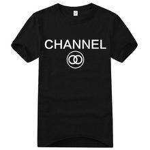 2016 Été Célèbre Marque 100% Coton lettre imprimer fitness COCO CANAL FAUX CC homme t-shirts drôle t shirt hommes t-shirt(China (Mainland))