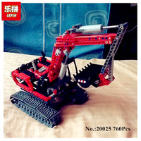 Lepin 20025 760Pcs Genuine Technic Series The Red Excavator Set Educational Building Blocks Bricks Boys Toys