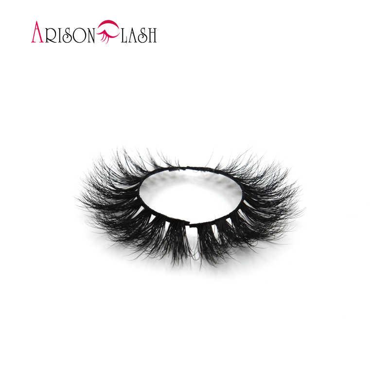 9adf1336e29 ... Arison Sexy 100% Handmade 3D Mink Full Strip Lashes Beauty Thick Long  False Mink Eyelashes ...