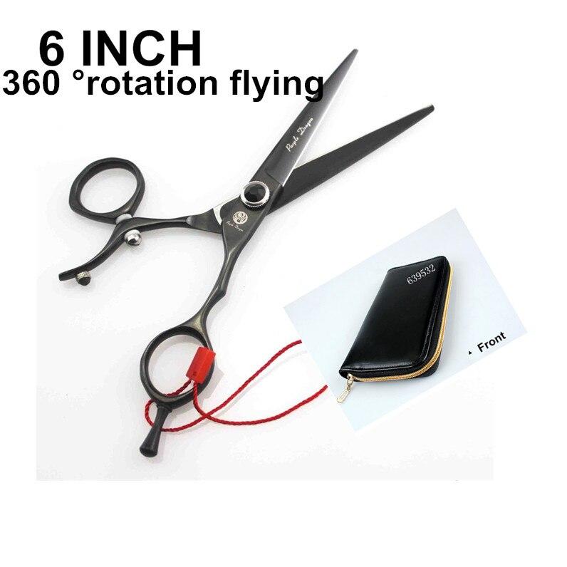 360 Degree rotation flying 6.0 inch color high-grade shears scissors hairdressing cutting scissors flat steel imports levett caesar prostate massager for 360 degree rotation g spot