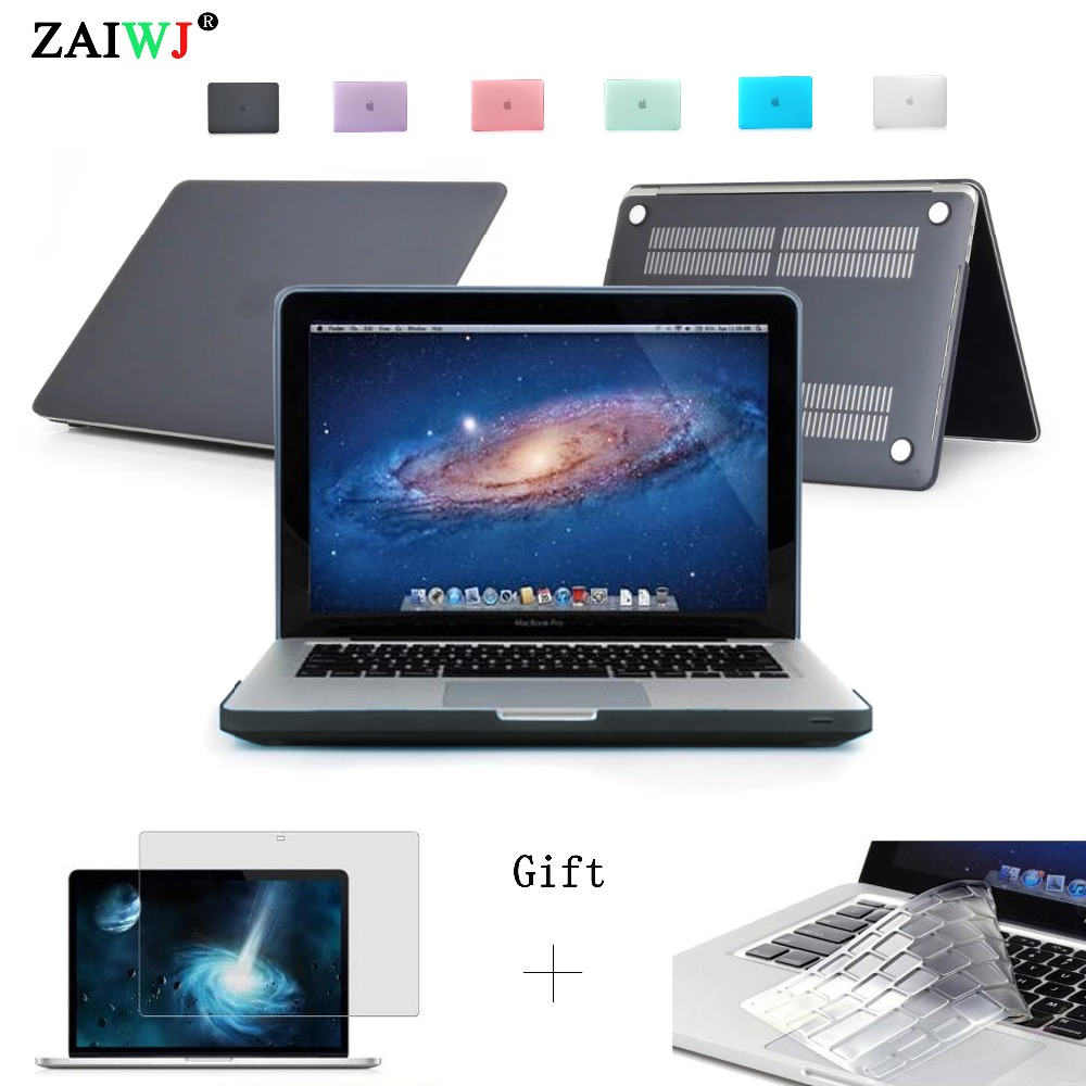 New Laptop bag ZAIWJ For Macbook Matte/crystal Case Air Retina Pro 11 12 13 15 with Touch bar 2016 2018 Model + Keyboard cover image