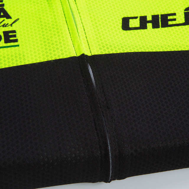 CHEJI Cycling Jersey High Visibility Men s Bike MTB Shirt Bicycle Top  Fluorescent Green Cycle Sportswear Top d4fcaafaf