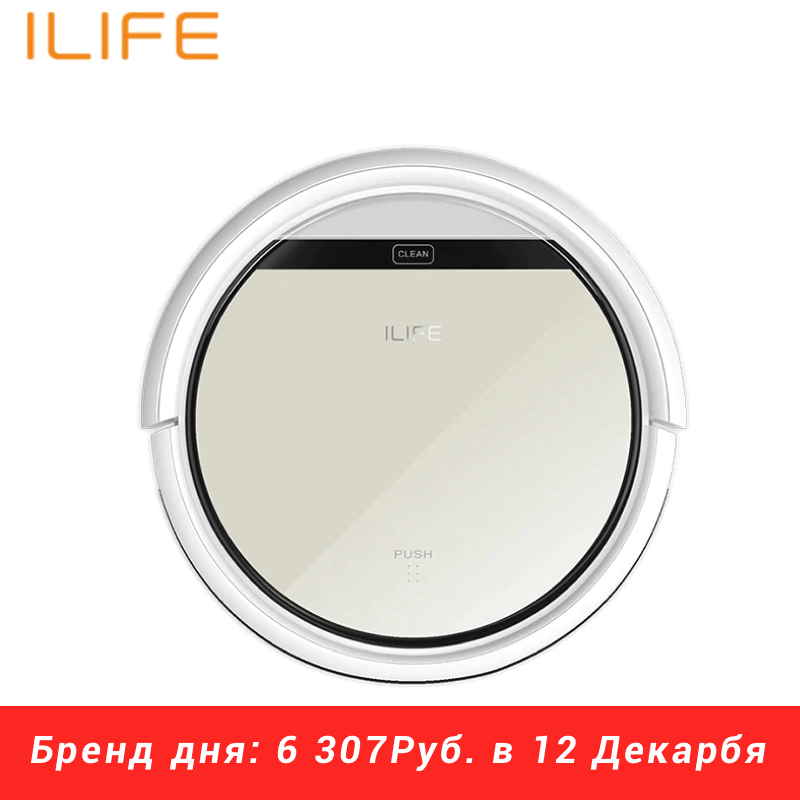 Robot Vacuum Cleaner ILIFE V50 Wireless Vacuum Cleaner Dry Cleaning For Home Automatic Suction 500 Pa Battery 2600 mAh