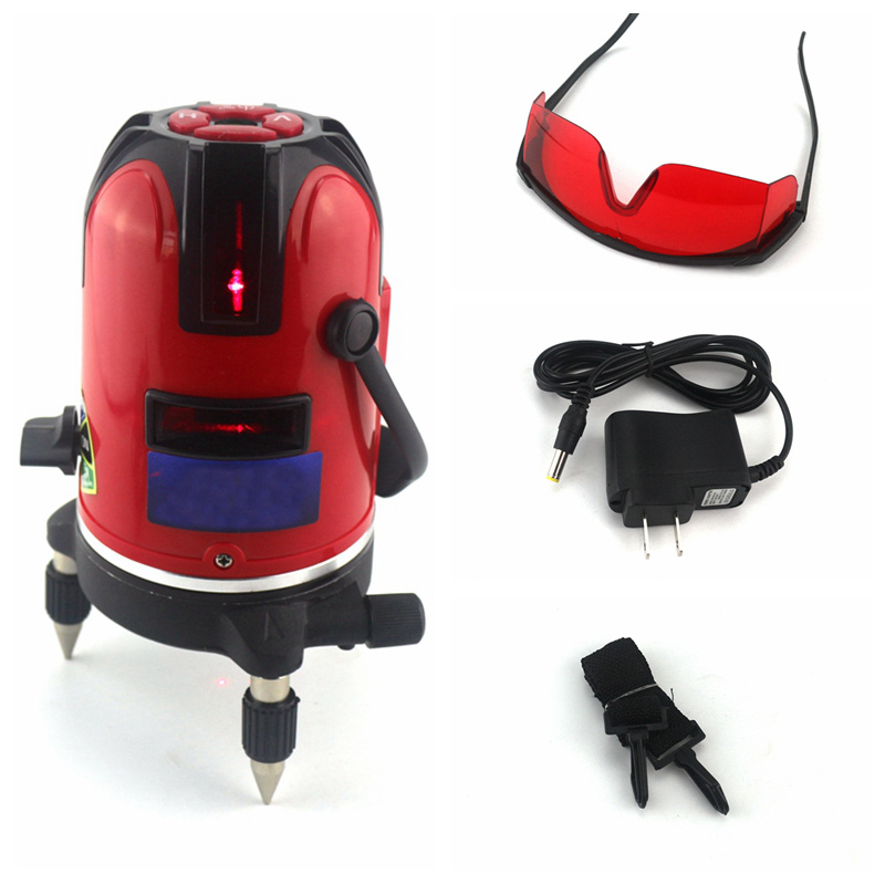 Laser Level 360 Laser Leveling Instrucment 532nm 5 Red Cross Lines 6 Poins Rotary Outdoor Horizon Vertical Measure Tripod thyssen parts leveling sensor yg 39g1k door zone switch leveling photoelectric sensors