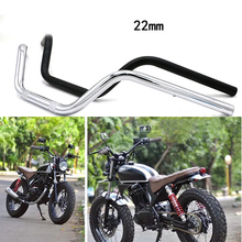 7/8 22mm Motorcycle Handlebar Aluminum Handle Vintage For Honda CB125S CB200 CG Moto Scooter Retro Black Anti-rust Accessories