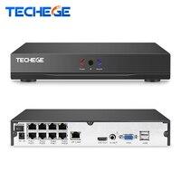 Techege 48V1080P 2MP 3MP FULL HD POE NVR POE Supply Cctv Nvr P2P ONVIF Real Time
