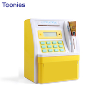 Smart Financial Management Money Box Safe Coin Storage ATM Automatic Teller Machine LCD Display Date and Time Clock Piggy Bank