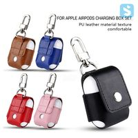 Premium PU Leather Protector Case Cover Sleeve Pouch For Apple AirPods True Wireless Headphone