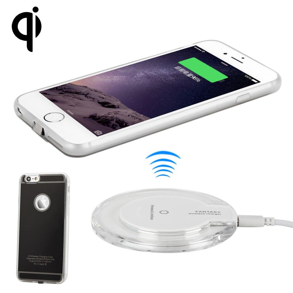 ea14176d7b8 Antye Qi Kit cargador inalámbrico para iPhone 6 6 s/6 más 6 S plus,  incluyendo Qi Wireless cargador pad y receptor de la Caja en Cargadores de  teléfono ...