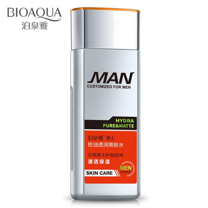 2018 BIOAQUA Men oil-control moisturizing toner men's Aftershave skin toner men brand face toner men skin care free shipping bicelle hydra b5 toner 240ml fresh