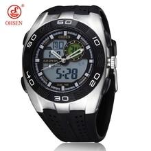 OHSEN Модные мужские G Стильные черные водонепроницаемые наручные часы для спорта на открытом воздухе цифровые кварцевые Военные светодиодный часы с будильником relogio masculino