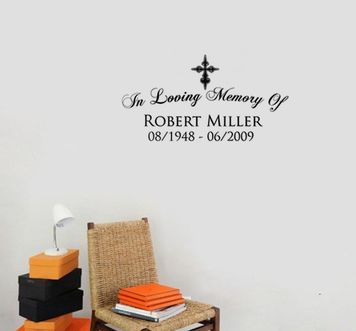 Quotes In Loving Memory Of Plane Wall Stickers Text Robert Miller Decorative Wallstickers For Living Room