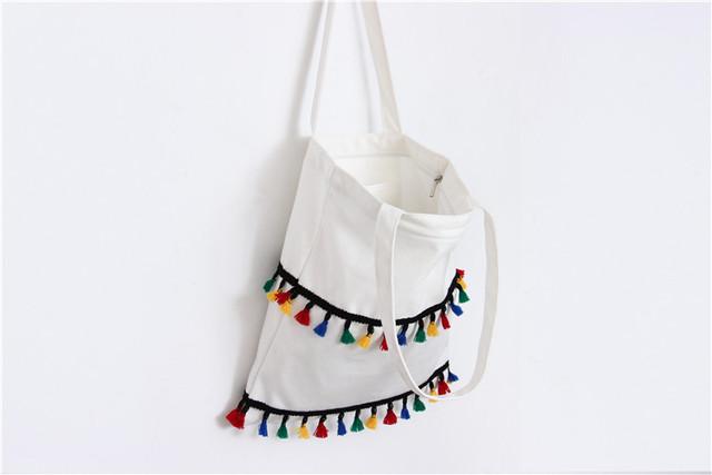 Fashion Women Bags National Canvas Women Messenger Bags Crossbody Flap Tassel Bag Handbags Designer Shoulder Bags Bolsa
