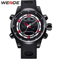 WEDIE Original Brand Mens Analog Digital Watches Stainless Steel Back Water Resistant Japan Movt Quartz Movement Wrist Watch