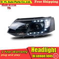 D_YL Car Styling Headlights 2010-2014 VW T5  LED Headlight DRL Lens Double Beam H7 HID Xenon bi xenon lens