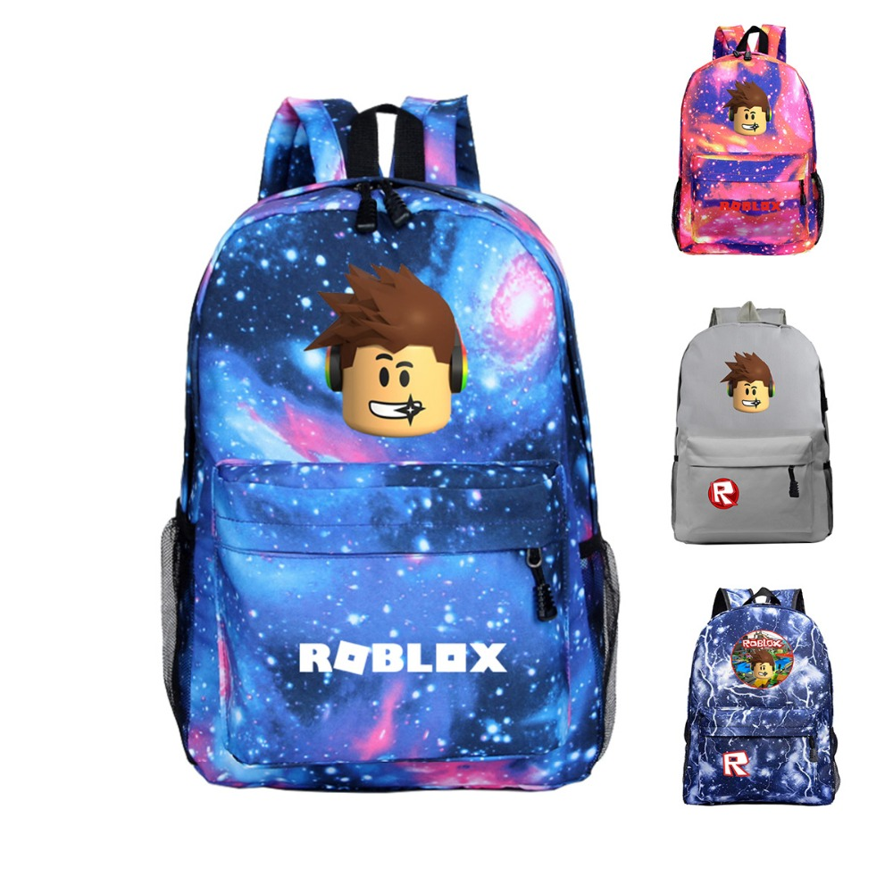 Roblox Backpack For Children School Bags For Teenage Girls Boys Galaxy Daily Backpack Travel Shoulder Bags Starry Night Book Bag