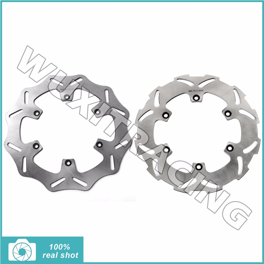 Full Set Front Rear Brake Discs Rotors for Husaberg TE 125 250/300 11-14 FE 250/350 390 400 450 501 510 550 570 600 650 S 99-14