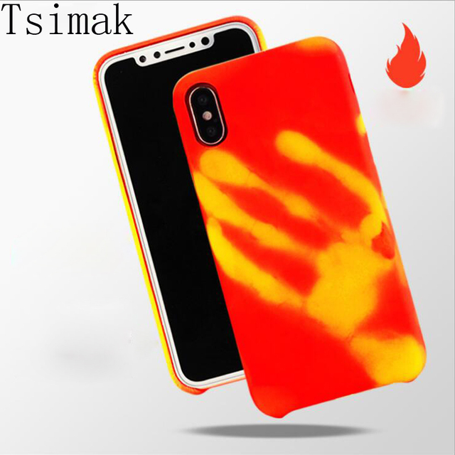 new style 6b2b7 bf1d7 US $3.99 |Tsimak Thermal Sensor Phone Case For iPhone X 8 Plus Case Cover  Heat Sensitive Soft Shell For iPhone X 8 7 6 6S Plus SE 5s Cover-in Fitted  ...