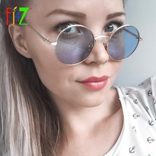 F.J4Z Hot Fashion Cool Round Women Goggle Shades Retro Punk Sunglasses Metal Frame Protection Sun Glasses