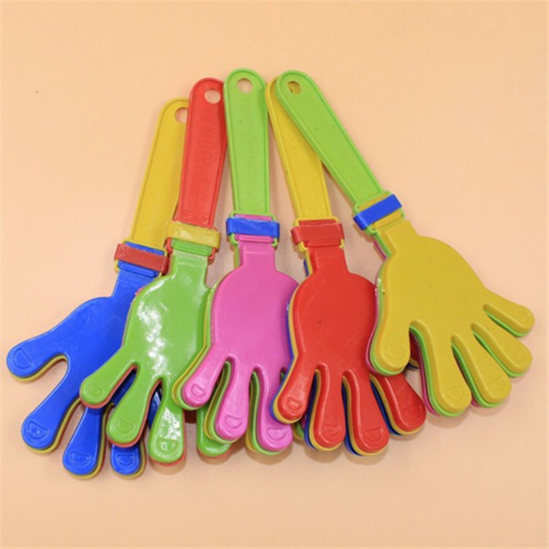 600pcs Plastic Hand clapper clap toy cheer leading clap for Olympic game football game Noise Maker Baby Kid Pet Toy