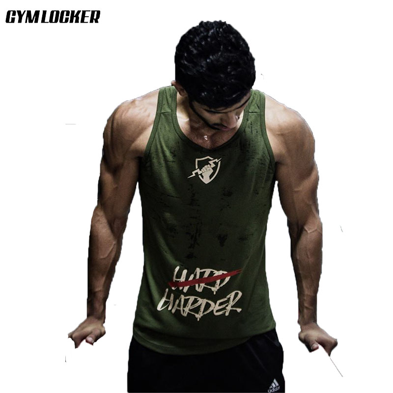GYMLOCKER new Men's   Tank     Top   Body bodybuilding Sleeveless gyms Shirt Fitness Workout Vest Muscle Black/grey/white/military green