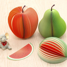 Fruit Shaped Scrapbooking Note pad Memo Stationary Notes Cute Pad Scratchpad office decor paper notes memo sheets