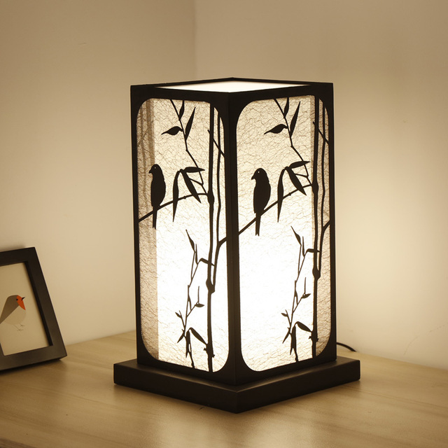 Lampe de table chinoise chambre lampe de chevet salon modèle chambre ...